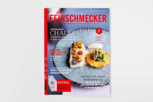 Der Feinschmecker Februar 2020 Cover. Ausgabe Innenteil. Die Datei ist ein Foto im JPEG-Format.