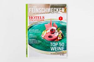 Der Feinschmecker Dezember 2020 Cover. Die Datei ist ein Foto im JPEG-Format.