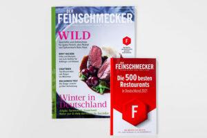 Der Feinschmecker Maerz 2021 Cover. Die Datei ist ein Foto im JPEG-Format.