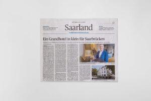 Die ESPLANADE in der Saarbruecker Zeitung von Mittwoch, 15. Juli 2020. Die Datei ist ein Foto im JPEG-Format.