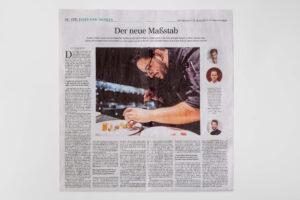 Die ESPLANADE und Silio Del Fabro in der Sueddeutsche Zeitung von Samstag/Sonntag 24./25. Oktober 2020. Die Datei ist ein Foto im JPEG-Format.