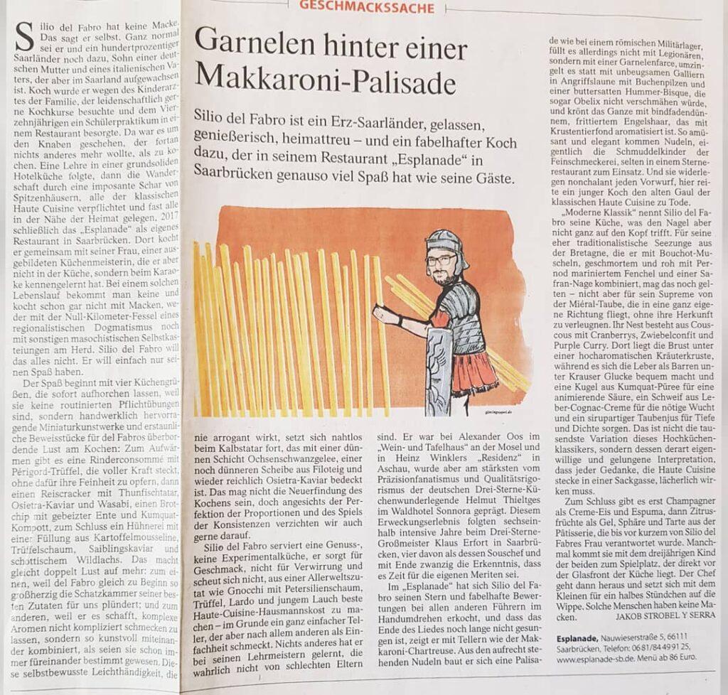 Silio Del Fabro in der Frankfurter Allgemeine Zeitung von Februar 2020. Die Datei ist ein Foto im JPEG-Format.