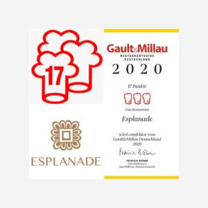 Gault & Millau Auszeichnung von 2020. Die Datei ist ein Foto im JPEG-Format.