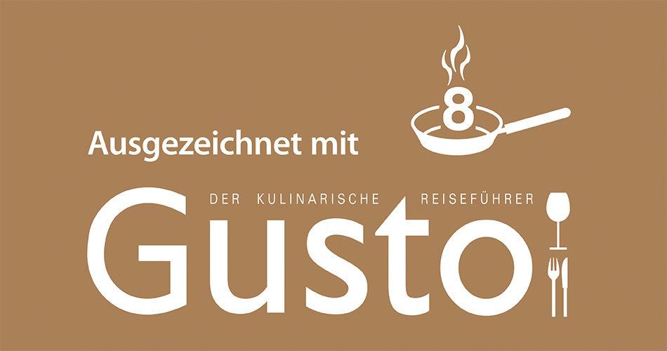 Gusto – der kulinarische Reisefuehrer 2018/2019 8 Pfannen. Die Datei ist ein Foto im JPEG-Format.