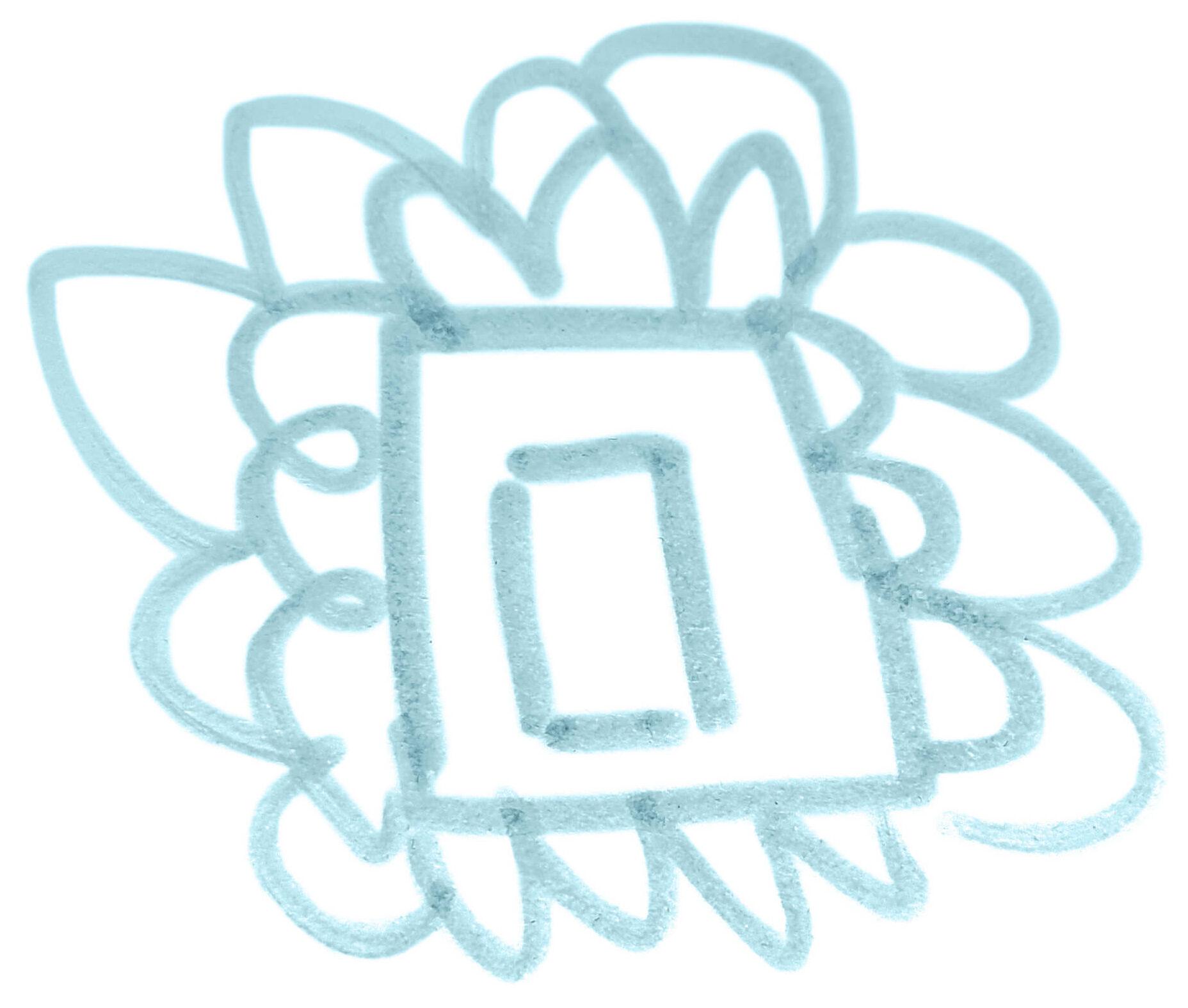 ESPLANADE Ur-Logo Zeichnung. Die Datei ist ein Foto im JPEG-Format.