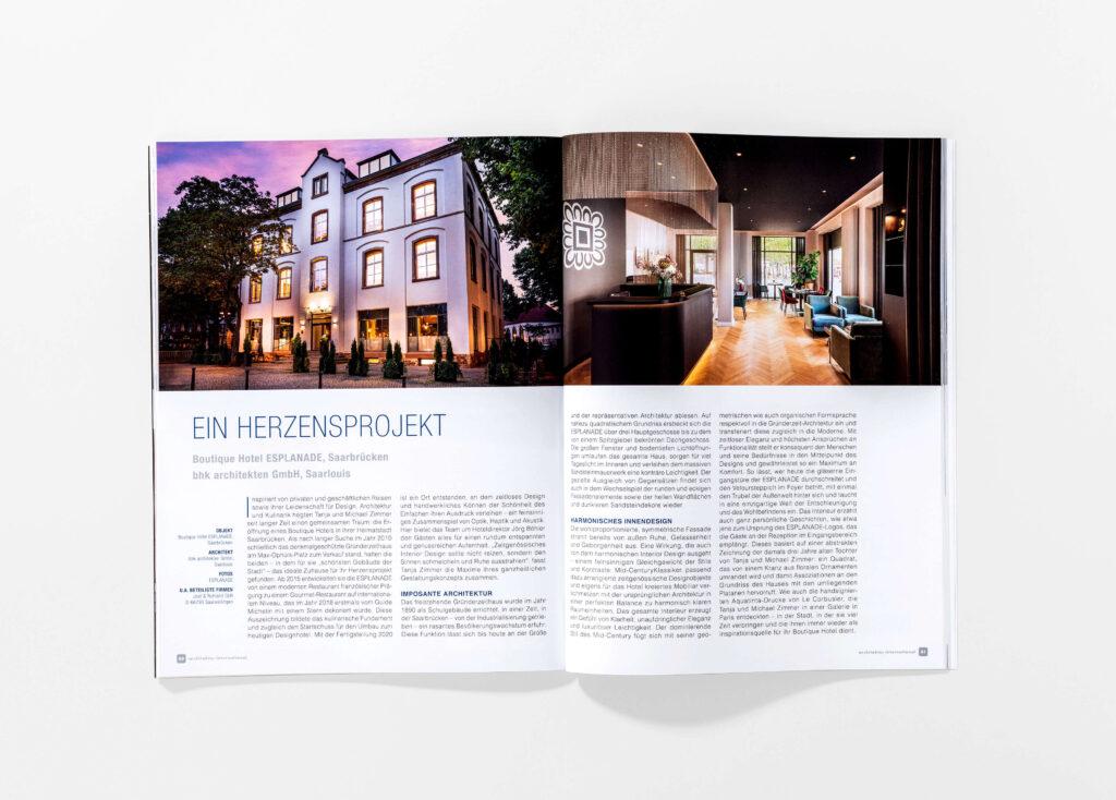 architektur international 2021 Innenteil erste Seite. Die Datei ist ein Foto im JPEG-Format.