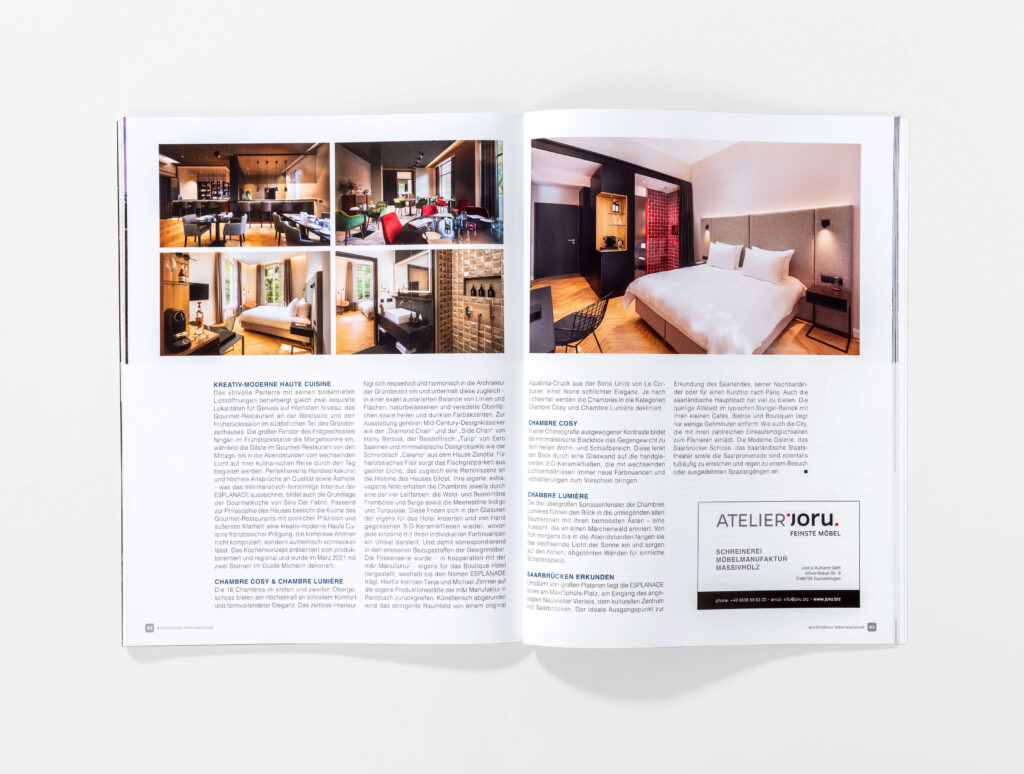 architektur international 2021 Innenteil zweite Seite. Die Datei ist ein Foto im JPEG-Format.